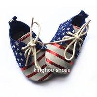 Zapatos al por mayor de oxford de la bandera americana zapatos de bebé de cuero nuevos zapatos de cuero genuinos del diseño