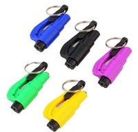 Wholesale 3 in Emergency Mini Safety Hammer Auto Car Window Glass Breaker Seat Belt Cutter Rescue Hammer Car Life saving Escape Tool