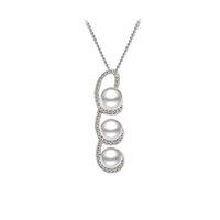 Pendentifs en perles d'eau douce en argent massif en argent sterling, perles en poudre Little Pod Pendentif en gros - PS03880