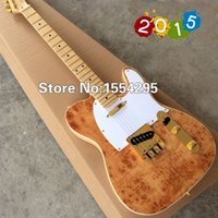 Wholesale Custom Shop TL Electric Guitar with Spalted Maple top Maple Fingerboard guitarra Wholesalel Real photo shows