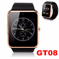 Wholesale GT08 Smart watch AppleWatch Bluetooth U8 DZ SmartWatchs Wrisbrand With SIM Card For iPhone Samsung IOS Android Cell phone Smart Bracelet