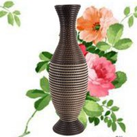 bamboo wicker - Handmade rattan vase European simple decoration flower hotel vase Material quality Pure natural Bamboo wicker Rattan