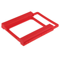 Wholesale 1Pcs to SSD HDD Screwless Mounting Bracket Adapter Hard Drive Disk Holder Red