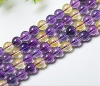 ametrine bracelet - 2016 hot sales fashion women Ametrine stone beads A quality natural stone beads for making necklace bracelets drop shipping