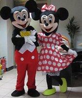 2016 de alta calidad traje de la mascota de Mickey Mouse Mickey mascota de la mascota de Minnie Minnie mascota envío libre