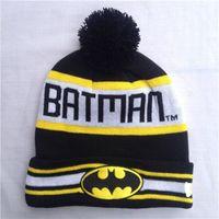 batman fitted cap - men hats Hip Hop Unisex Batman Beanies Women s Autumn Winter knit Cotton ball Hats Snapback caps Fashion Accessories