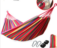Cheap Upgrade Single Double thick canvas hammock indoor outdoor camping hammock swing wholesale