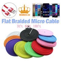 apple usb extension cable - 3ft ft ft Flat Braided Woven Micro USB Charger Cables Fabric Data Charging Extension Lead for Samsung Galaxy S4 S5 HTC Universal