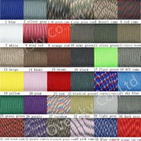 Wholesale Paracord Parachute Rope Core Strand FT paracord For Climbing Camping Buckles Bracelet Colors For Pick