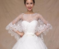 beaded bat - The new bride wedding dress Shawls white lace bats cloak Shawls and beaded and lace details of the most popular Wedding Dress accessories