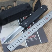 aluminum sizes - Full size Microtech Marfione Custom Combat Troodon Recurve Knife T6 Aluminum handle Satin CNC D2 steel Plain EDC Survival gear knives
