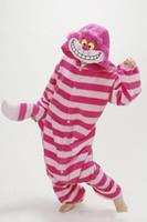 Wholesale Winter New Sleepsuit Adults Cartoon Cheshire Cat Onesies Unisex Onesies Pajamas Cosplay Costumes Halloween Garment Cartoon Jumpsuits Unisex