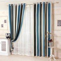 bay window shades - Striped curtains modern curtain living room curtains bedroom curtain Bay window semi light shading customization window curtain