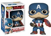america models - Funko POP Marvel Avengers Captain America Figure Model with gift box