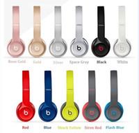 Wholesale Bluetooth beats Solo2 Headphone Active fashion sport Wireless Mobile Cellphone Solo Earphone HeadsD Stereet Used Refurbished