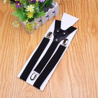 Wholesale 2 CM Adjustable Suspender Clip on Tirantes Bretelles Hommes Unisex Men Women Braces Pants Suspenders For Party