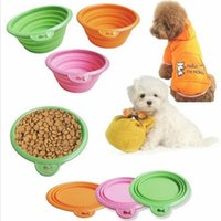 Wholesale Portable Foldable Collapsible Pet Cat Dog Silicone Water Food Travel Feeding Bowl Non toxic Silicone Pet Bowl
