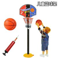 Cheap Outdoor basketball hoop shooting indoor sports can lift frame baby grasping toys parent-child interaction