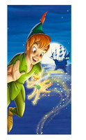 bamboo pan - Peter Pan Style Bath Towel Custom x140cm Large Soft Absorbent Bamboo Fiber Beach Towel