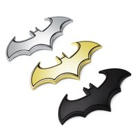 Wholesale 3D Metal Bats Car stickers metal car logo badge badge Last Batman logo stickers decals motorcycle Styling decals Car Styling