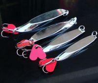 2Pcs Iron Plate Metal Ложка Spinner Bait 10г с сердцем Заманить Swimbait Тонущий ОТСАДОЧНАЯ Холодец Песка рыболовные снасти
