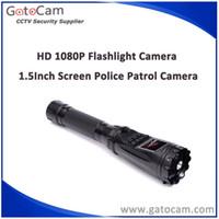Wholesale 1080P HD Police Enforcement DVR Night Patrol Flashlight Camera Audio Video Camera Recorder HD Torch Camera