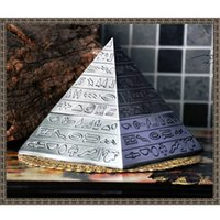 ancient egypt crafts - Pyramid Cinzeiro Retro Zinc Alloy Ashtray With Lids Cigarette Smokeless Cigar Ashtray Ancient Egypt Patterned Craft Gift