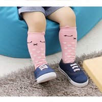Wholesale Newborn Toddler knee high sock Baby Boy bebe Girl fox Socks cotton Cute Cartoon Animal Cat leg warmers For newborns infantile etwz a16