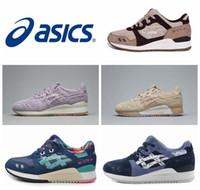 2016 Nuevos zapatos corrientes de Asics Gel-Ltye III del estilo para los hombres de las mujeres, zapatillas de deporte respirables del deporte del atletismo de la manera de calidad superior Tamaño EUR 36-44