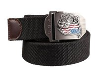 web belt - JASGOOD Canvas Mens Belts Eagle Stainless Steel Buckle Straps Men Outdoor Military Style Black or Army Green Web Belt