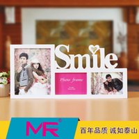 Wholesale 7 inch Family photo frame EU Creative design multi size rectangle ABS eco friendly material picture frame can be wall mounted or stand