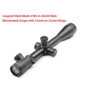 Wholesale Leupold Style Mark M1 x50 R G Illuminated Optical Rifle Scope Sight Scope W Rings11mm or mm