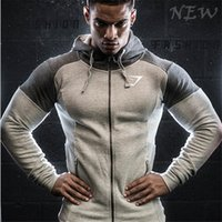 Wholesale 2016 Sport gym Men s Hoodies gymshark hoodies sweatshirt belt patchwork Muscle Brothers man hoodies full sleeve sportwear gyms clothing
