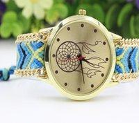 balls watch hands - Ladies Women Weave Dress watch Handmade ball flower design Watches Braided Hand Woven Wristwatch fashion Bracelet quartz rope Watch