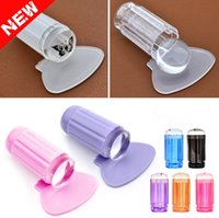 Wholesale New cm DIY Nail Art Templates Stamping Stamper Scraper Image Plate Manicure Tools Kits Plastic