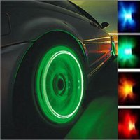 Wholesale Car Bike LED Flash Tyre Light Wheel Light Valve Sealing Cap Lamp Motorbicycle
