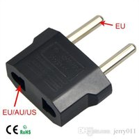 Wholesale 1Pcs Universal Travel US or EU to EU AC Plug Adapter Converter USA to Euro Europe Wall Power Charge Outlet Sockets