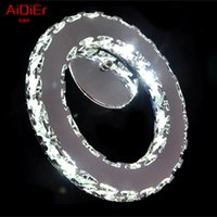Wholesale Creative personality LED crystal Wall Lamps brief living roomled crystal circle Wall light lighting Upscale atmosphere
