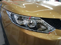 abs chromium - Front Head Light Lamp Cover For Nissan Qashqai J11 Trim Front Head Light Cover ABS Chrome Chromium Auto Styling exterior Accessory