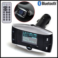 Wholesale Hot Sale Handsfree Wireless Bluetooth Car Kit MP3 Player FM Transmitter Radio Adapter With LCD Remote Control For Cell Phone