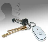 Wholesale Whistle Key Finder Anti lost Mini Phone Finder Key tracker Item Finder Keychain Replaceable Battery Wallet Locator Locating cars gift