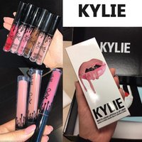 Wholesale Kylie Liquid Lipstick Kit Matte Lip Gloss Kit by Kylie Jenner Lipstick with Lip Liner Pencil Red Velvet Makeup Kylie Cosmetics Lip Velvetine