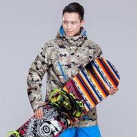 Wholesale Man Ski Jacket Camouflage Style Windproof Waterproof Skiing Camping Hiking Single and Double Plate Ski Coat Warm Clothing