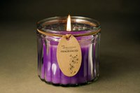 Wholesale SPA Salon Candle Fragranced Aroma Candle Lavender Candle Glass Cup Candle Hypnotic Candle