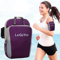 Wholesale New Discount Nylon fashion sports arm bag Trend Portable running cell phone mini bags Coin Purse five colors or retail