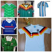argentina clothes - Retro Vintage Netherlands Mexico soccer jerseys Klinsmann Maradona Matthaeus Argentina jerseys soccer clothes jersey football shirts