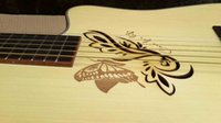 acoustic sound design - butterfly hole new design acoustic electric guitar very good quality good sound