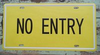 barring entry - Vintage Tin Sign NO ENTRY Plaque Pub Bar Store Bank Wall Decor Retro Art Poster New