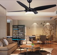 Wholesale American vintage quot fan light ceiling chandelier fans modern minimalist living room dining room ceiling chandelier fan LED lamp controller