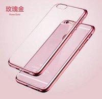 Nouveau ! Luxury Phone Case Ultra Thin Crystal Clear Rubber Placage Electroplating TPU souple mobile pour l'iPhone 6 6s Plus sac de couverture